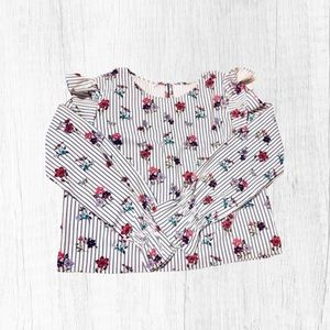 SHEIN mixed print ruffle blouse